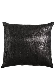 Cutuli Home Laminated Leather Pillow Black
