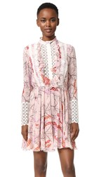 Giambattista Valli Long Sleeve Dress Light Pink Multi