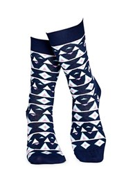 Happy Socks Temple Crew Navy Combo