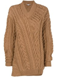 Stella Mccartney Oversized Knit Jumper Nude And Neutrals