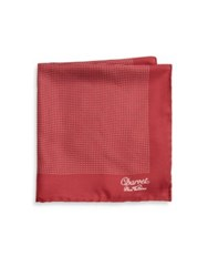 Charvet Polka Dot Silk Pocket Square Red Multi