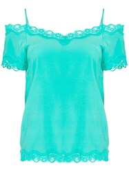 Max And Moi Lace Trim Camisole Green
