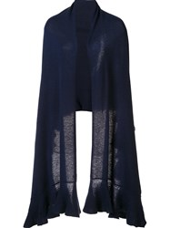 Magaschoni Semi Sheer Stole Blue