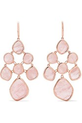 Monica Vinader Siren Chandelier Rose Gold Vermeil Quartz Earrings One Size