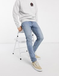 Weekday Cone Slim Tapered Jeans In Pop Blue