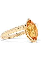Stephen Webster Jitterbug 18 Karat Gold Citrine Ring