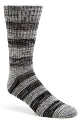 Men's 1901 Marled Stripe Socks Grey 3 For 25 Grey Twist