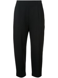 Kuho Cropped Tailored Trousers Black