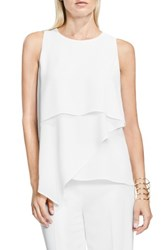 Vince Camuto Women's Asymmetrical Tiered Blouse New Ivory