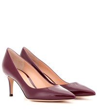 Gianvito Rossi 70 Patent Leather Pumps Red