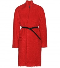 Isabel Marant Seal Wool And Mohair Blend Coat Red