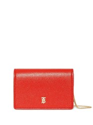 Burberry Grainy Leather Card Case With Detachable Strap Red