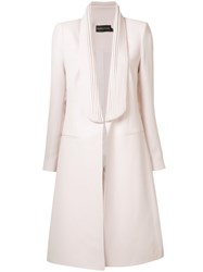 Brandon Maxwell Fitted Open Front Coat Pink Purple