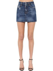 Dsquared Medium Clean Wash Denim Mini Skirt
