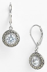 Judith Jack Marcasite And Cubic Zirconia Drop Earrings