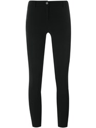 Ilaria Nistri Cropped Skinny Trousers Black