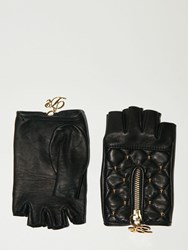 Dsquared Lvr Exclusive Fingerless Leather Gloves Black
