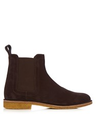 Bottega Veneta Panelled Suede Chelsea Boots Brown