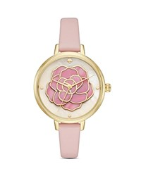 Kate Spade New York Leather Metro Watch 34Mm Pink