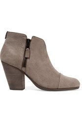 Rag And Bone Margot Nubuck Ankle Boots Gray