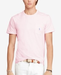 Polo Ralph Lauren Men's Jersey Pocket Crew Neck T Shirt Light Pink