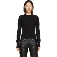 Christophe Lemaire Black Fitted Sweater