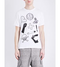Anglomania Classic Logo Print Cotton Jersey T Shirt White