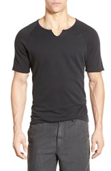 Men's John Varvatos Star Usa Short Sleeve Raglan Sweater Black