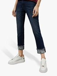 Ted Baker Pralina Embroidered Daisy Jeans Dark Blue