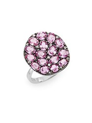 Effy Diamond Pink Sapphire And 14K White Gold Ring White Gold Pink