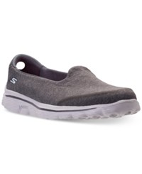 Skechers Women's Gowalk 2 Super Sock Courage Casual Walking Sneakers From Finish Line Charcoal