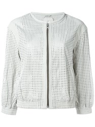 Iro 'Chan' Perforated Jacket White