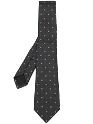 Gucci Double G Floral Pattern Tie Grey
