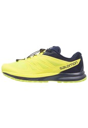 Salomon Sense Pro 2 Trail Running Shoes Navy Blazer Lime Punch Lime Green Dark Blue