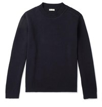 Connolly Waffle Knit Cotton Sweater Navy