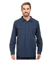 Mountain Hardwear Canyon L S Shirt Hardwear Navy Men's Long Sleeve Button Up Blue