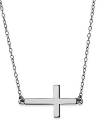 Studio Silver Sterling Silver Necklace Sideways Cross Pendant