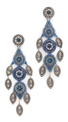Miguel Ases Allyn Earrings Blue Gold