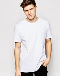 Another Influence Longline Plain T Shirt White