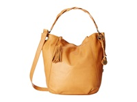 Lucky Brand Ashmore Leather Bucket Cognac Handbags Tan