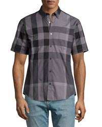 Burberry Fred Exploded Check Woven Shirt Charcoal