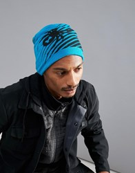 Spyder Throwback Beanie Hat Blue