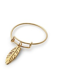 Alex And Ani Feather Expandable Wire Ring Gold