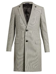 Lanvin Hound's Tooth Wool Blend Overcoat Grey