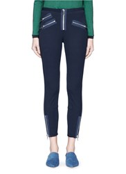 3.1 Phillip Lim Zip Cuff Cotton Modal Moto Leggings Black