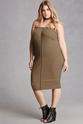 Forever 21 Plus Size Zip Front Tube Dress
