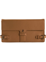 Tomas Maier Clutch Bag Brown