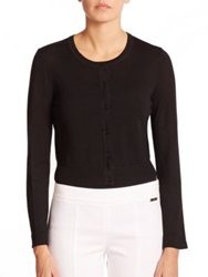 Tory Burch Merino Wool Cardigan Black