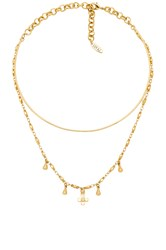 Luv Aj The Cosmic Cross Tie Necklace Gold