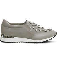 Office Pansy Gem Embellished Trainers Grey